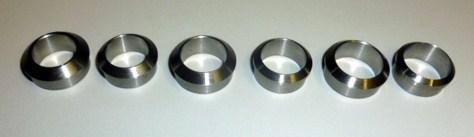 Stainless steel winding checks of 18mm en 20mm