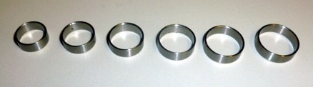 Stainless steel rings for reinforcement of rod top section