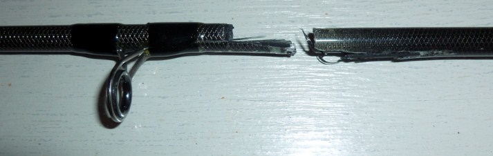 Broken spinning rod top section