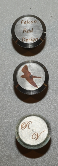 Stainless steel butt caps can be lasered